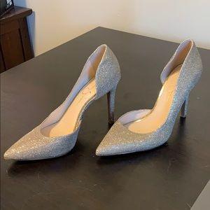 Gold Jessica Simpson stilettos